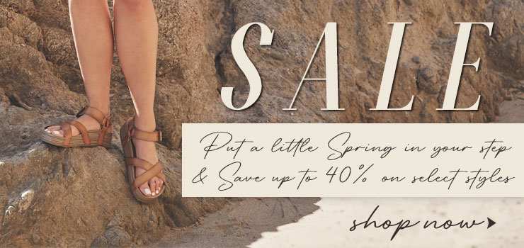 SALE – SAVE UP TO 40% on Select Styles