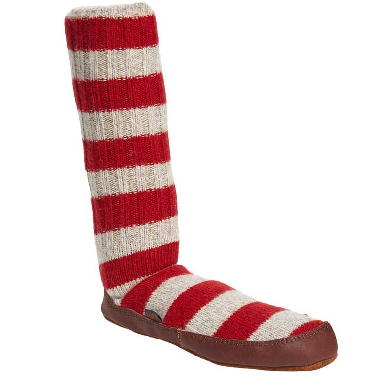 Acorn Slipper Sock Red Stripe A10118RST