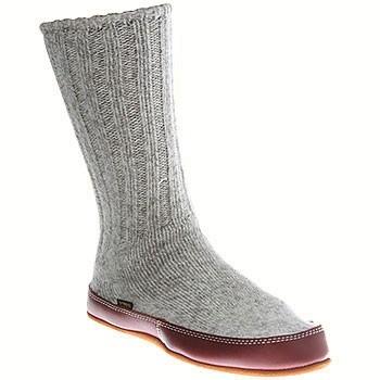 Acorn Slipper Sock Grey Ragg Wool A10118ACKS (Unisex)