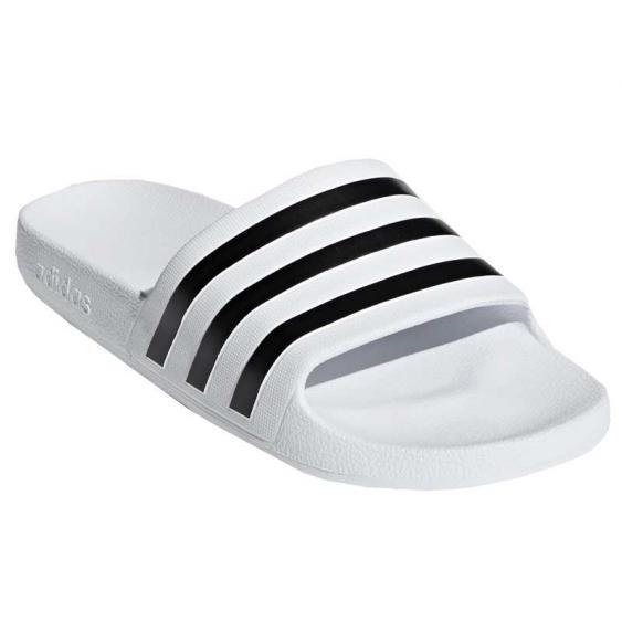 Adidas Adilette Aqua Slides White/ Black F35539 (Unisex)