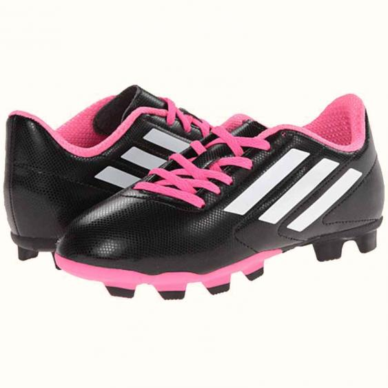Adidas Conquisto FG J Black / White / Pink B25594 (Youth)
