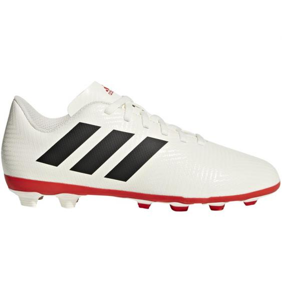 Adidas Nemeziz 18.4 FXG JR White/ Black/ Red CM8510 (Youth)