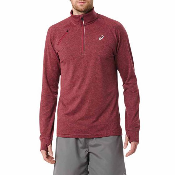Asics Thermopolis 1/2 Zip Wine Heather MR2945.0669 (Men's)