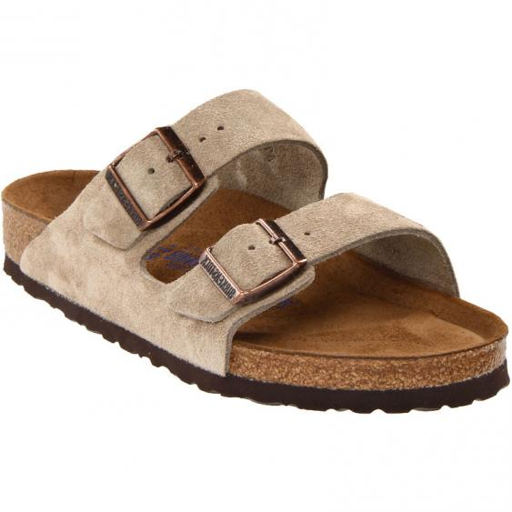 Birkenstock Arizona Soft Footbed Taupe Suede 95130 (Unisex)