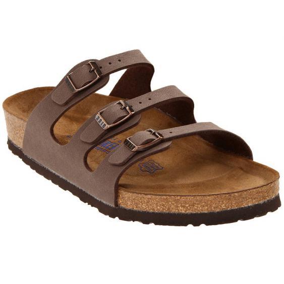 Birkenstock Florida Soft Footbed Mocha Birkibuc 5388-1 (Women's)