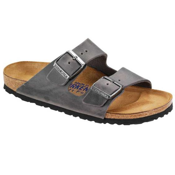 Birkenstock Arizona SF Iron Oiled Leather 55280 (Unisex)