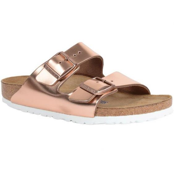 Birkenstock Arizona Soft Footbed Metallic Copper 95209-1/3 (Women's)