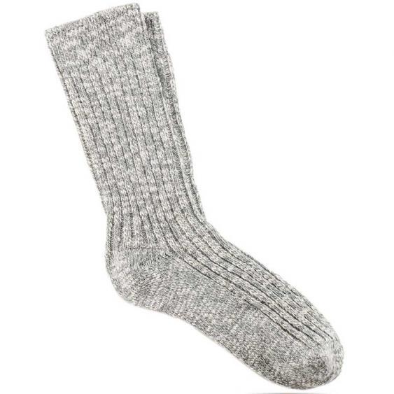 Birkenstock Cotton Slub Gray/ White 1008-032