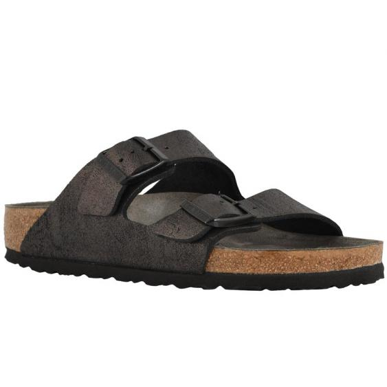 Birkenstock Arizona Washed Metallic Black 1011-292 (Women's)