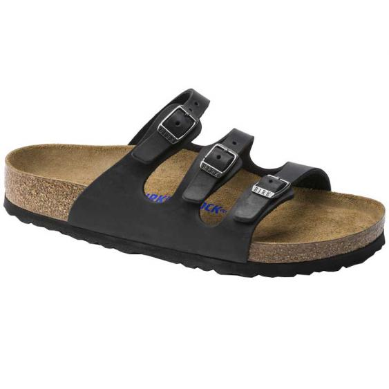 Birkenstock Florida SF Black Oiled 1011445 (Women's)