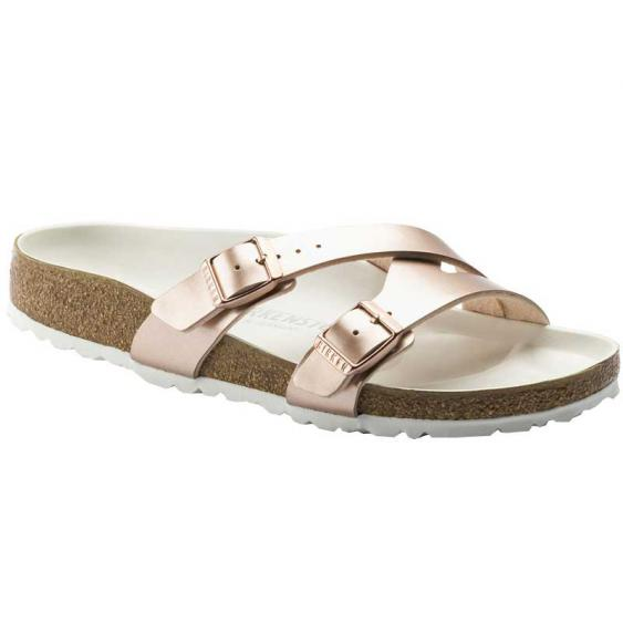 Birkenstock Yao Lux Electric Metallic Copper Birko-Flor 1014-184 (Women's)