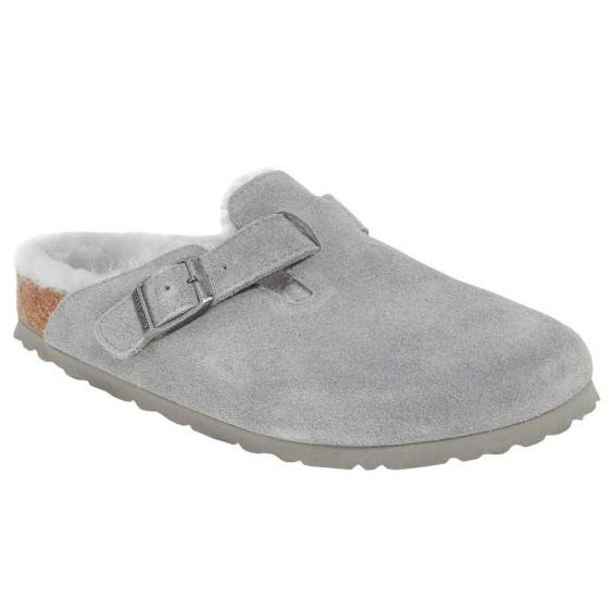 Birkenstock Boston Shearling Dove Gray 1015-413 (Women's)