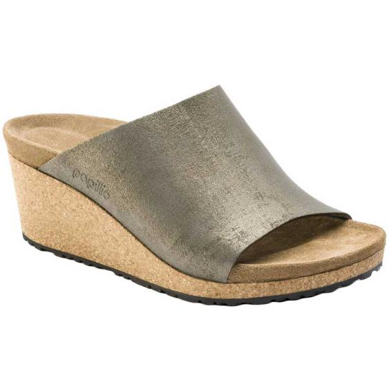 Birkenstock Namica Leather/Washed Metallic Stone Gold 1014-879 (Women's)