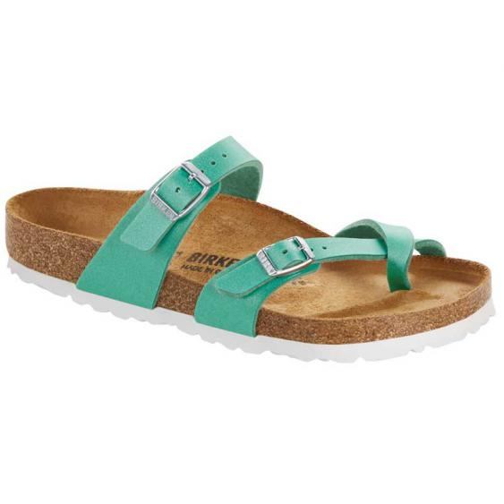 Birkenstock Mayari Icy Metallic Emerald Green 1016-844 (Women's)