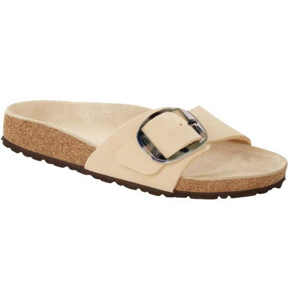 Birkenstock Madrid Big Buckle Almond Nubuck 1018-698 (Women's)