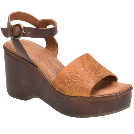 Born Moapa Yellow/Brown Embossed BR0001207 (Women's)