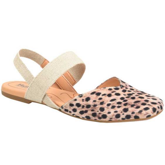 Born Coco Black/ Natural Cheetah Fabric BR0018800 (Women's)