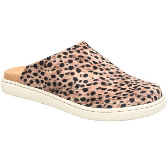 Born Zen Black/Natural Cheetah Fabric BR0019100 (Women's)