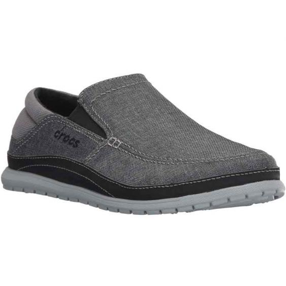 Crocs Santa Cruz Playa Slip-On Graphite/Light Grey 204835-03L (Men's)