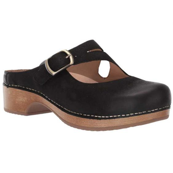 Dansko Britney Black Burnished Nubuck 9422-471600 (Women's)