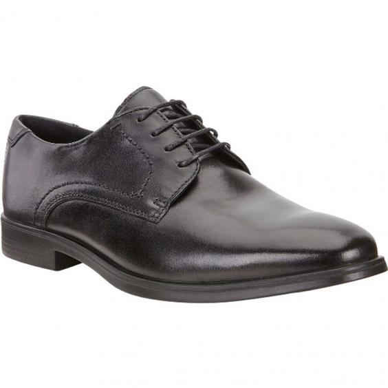 ECCO Melbourne Tie Black/ Magnet 621634-50839 (Men's)