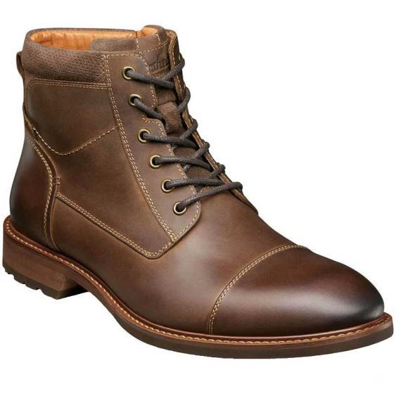 Florsheim Lodge Cap Toe Lace Up Boot Brown Crazy Horse 14286-215 (Men's)
