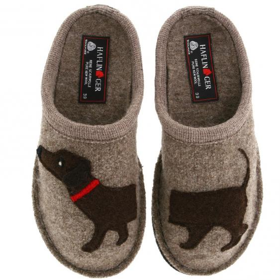 Haflinger Doggy Slipper Earth (Women's)