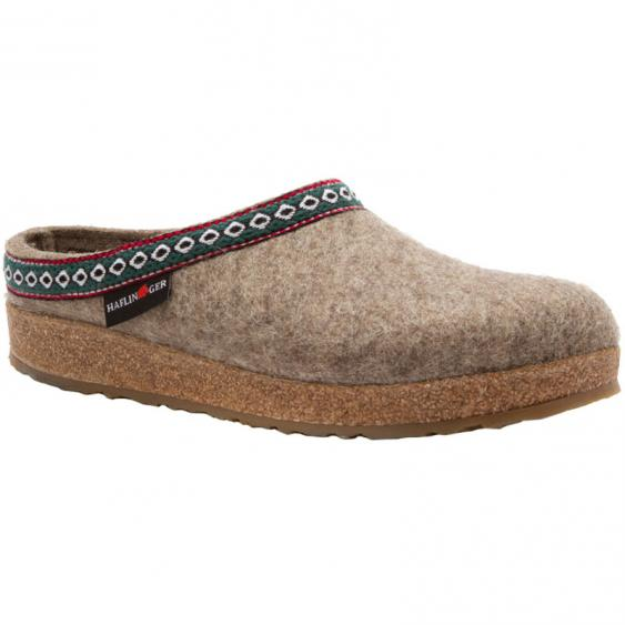 Haflinger GZ63 Classic Wool Grizzly Clog Earth (Unisex)