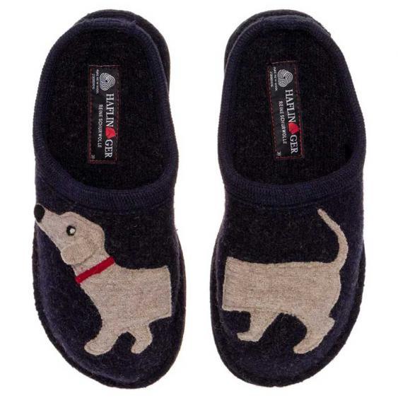 Haflinger Doggy Slipper Captains Blue 313021-79 (Women's)