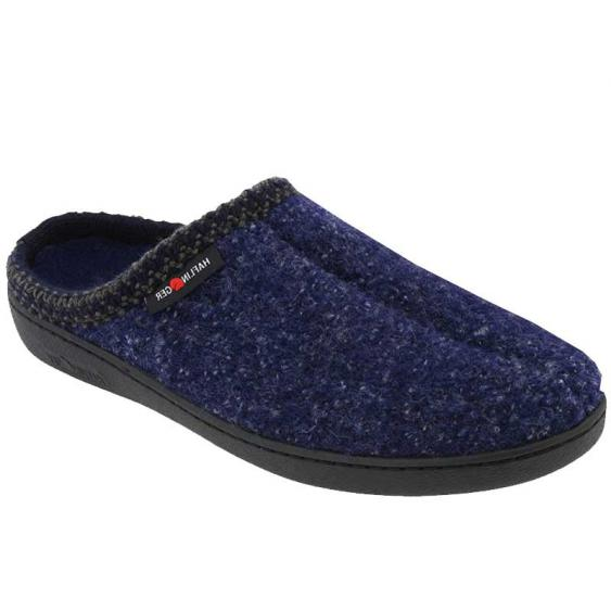 Haflinger AT Speckle Classic Hardsole Wool Slipper Blue (Unisex)