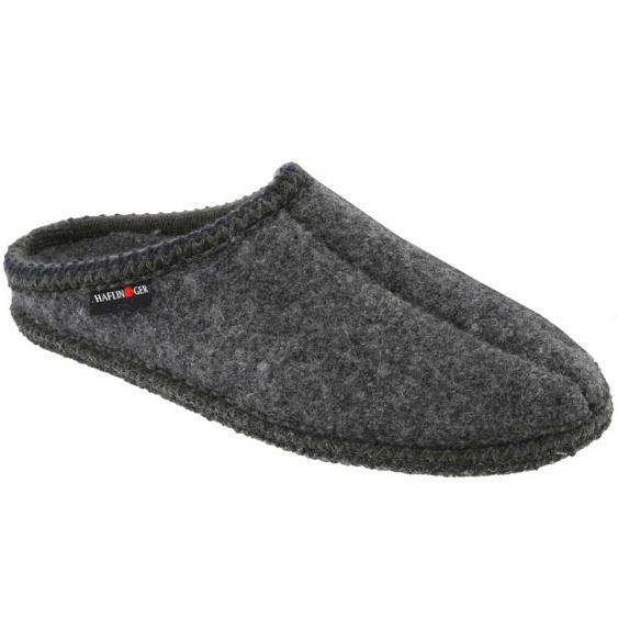 Haflinger AS7 Classic Woolfelt Slipper Gray (Unisex)