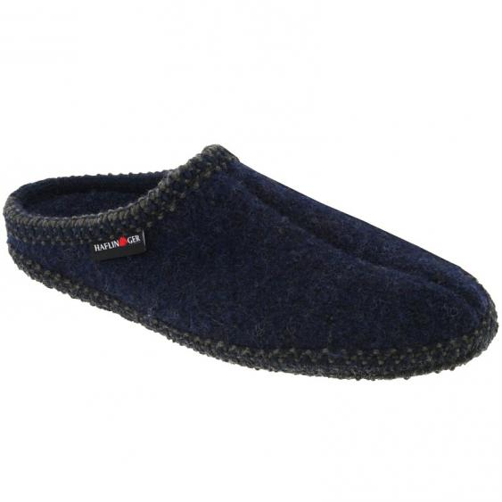 Haflinger AS20 Classic Woolfelt Slipper Navy (Unisex)