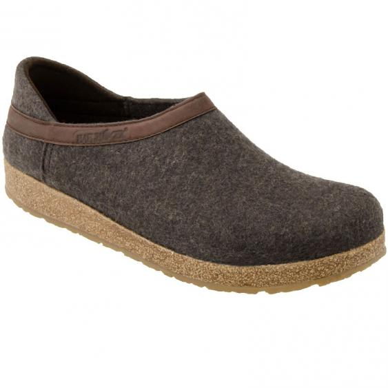 Haflinger GZH42 Grizzly Closed Heel Clog Smokey Brown (Unisex)