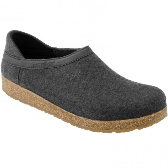 Haflinger GZH44 Grizzly Closed Heel Clog Charcoal (Unisex)