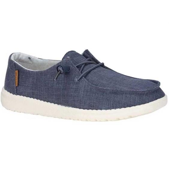 Hey Dude Wendy Chambray Navy/ White 121412526 (Women's)