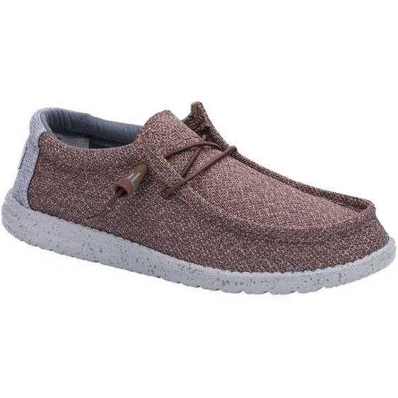 Hey Dude Wally Sox Brown Grey 110351522 (Men's)