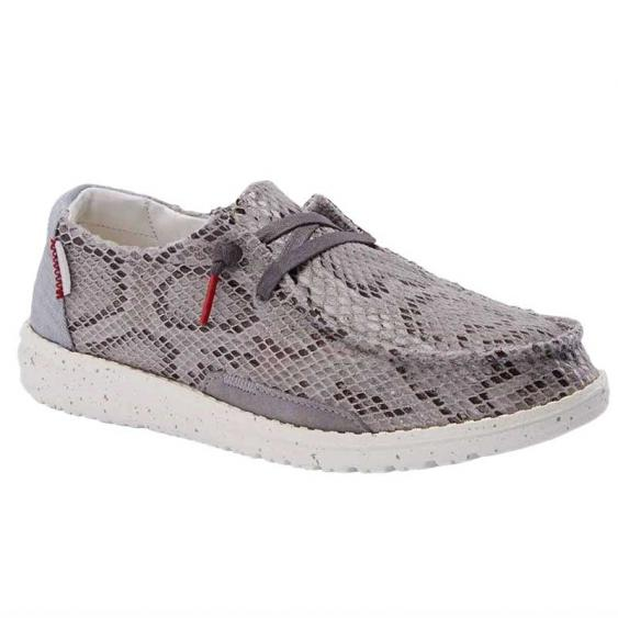 Hey Dude Wendy Python Light Blue Grey 121412665 (Women's)