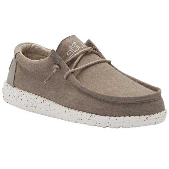 Hey Dude Wally Chambray Sepia Brown 110061549 (Men's)