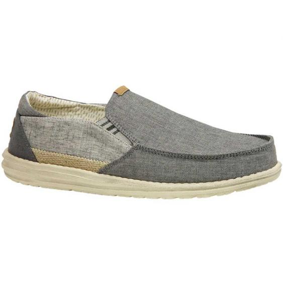 Hey Dude Thad Chambray Ghost Grey 111913156 (Men's)