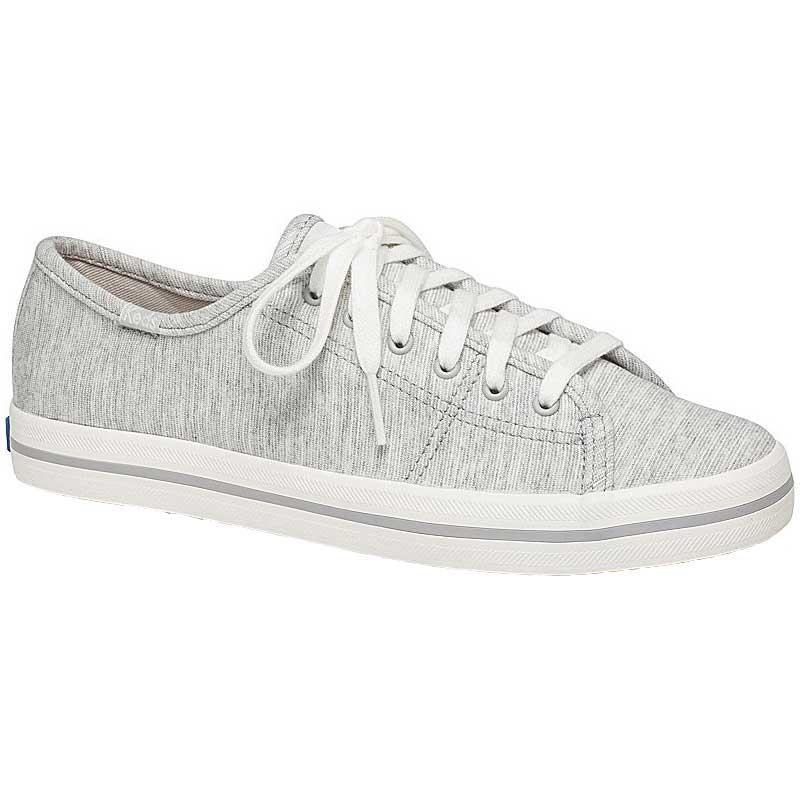 Keds Kickstart Stripy Jersey Light Grey