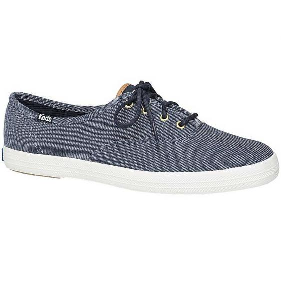 Keds Champion Ticking Canvas Navy WF60621 (Women's)