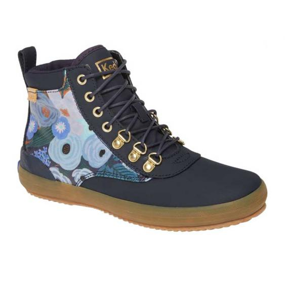 Keds Scout Boot Rifle Paper Co Garden Party Splash Navy Twill WF61419 (Women's)