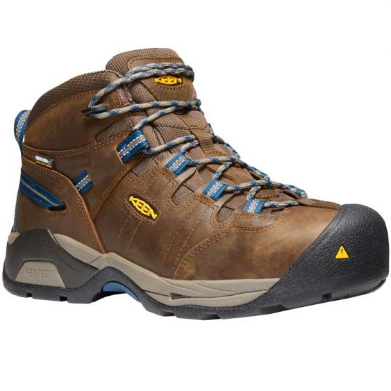 Keen Utility Detroit XT Mid Waterproof Cascade Brown/ Orion Blue 1020086 (Men's)