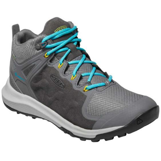 Keen Explore Mid WP Steel Grey/ Bright Turquoise 1021647 (Women's)
