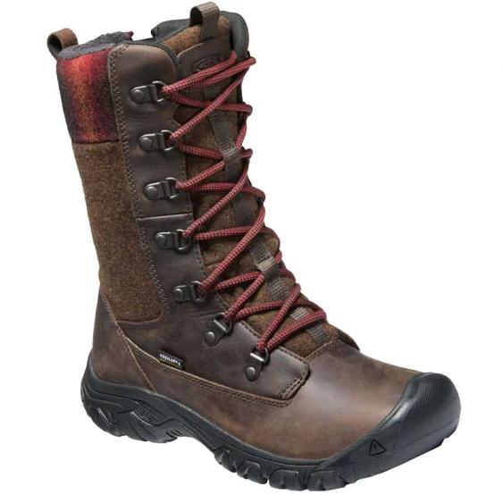 Keen Greta Tall Waterproof Boot Chestnut/ Mulch 1023609 (Women's)