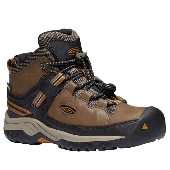 Keen Targhee Mid WP Dark Earth/ Golden Brown 1019834 (Youth)
