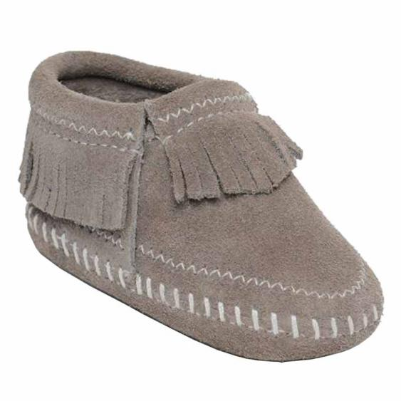 Minnetonka Riley Bootie Grey 1161T (Infant)