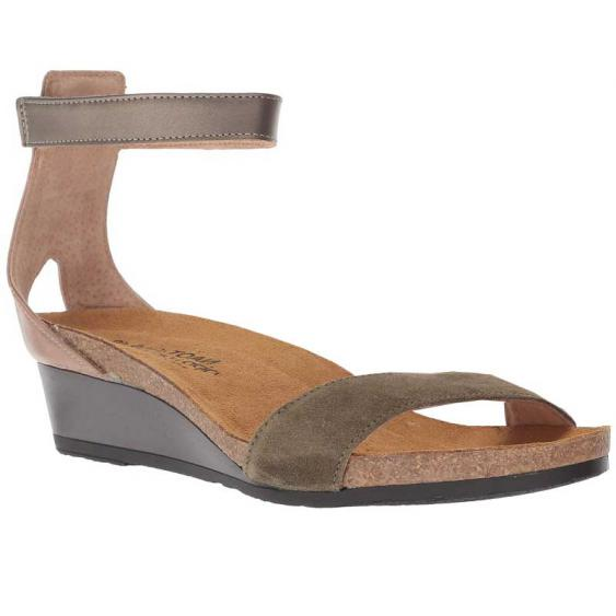 Naot Pixie Oily Olive/ Arizona Tan/ Pewter 5016-VAB (Women's)