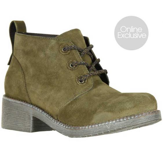Naot Love Oily Olive Suede/ Vintage Pine 17604-V93 (Women's)