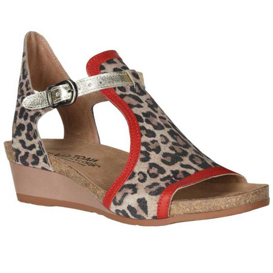 Naot Fiona Cheetah Suede/ Kiss Red Leather/ Radiant Gold Leather 5042-SIR (Women's)